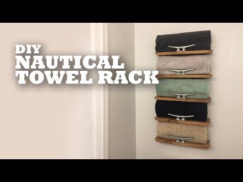 DIY Nautical Towel Rack