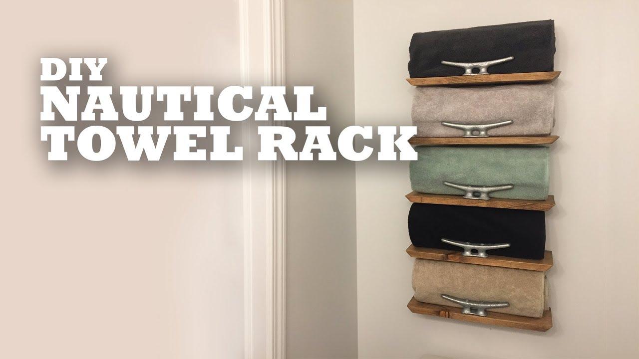 Diy Nautical Towel Rack Youtube