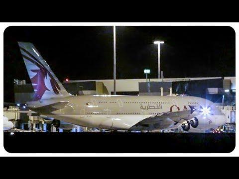 Inaugural Qatar Airways Airbus A380 Landing At Melbourne Airport | QR904