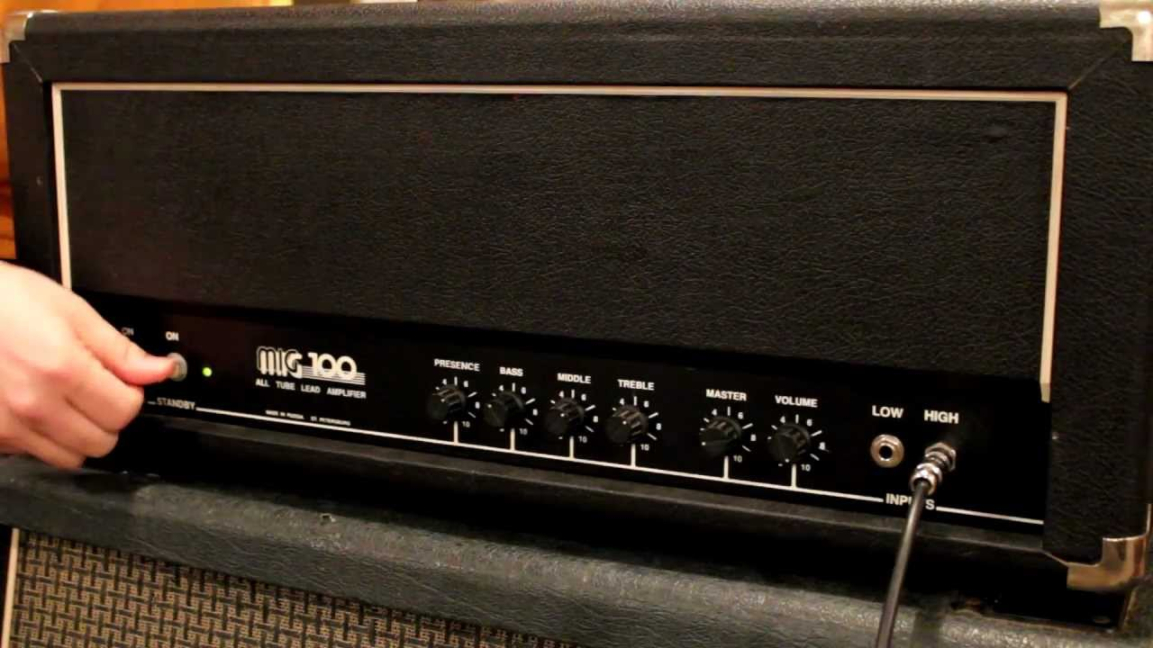 100 Amp Disconnect >> Sovtek MIG 100 U guitar amp head - YouTube