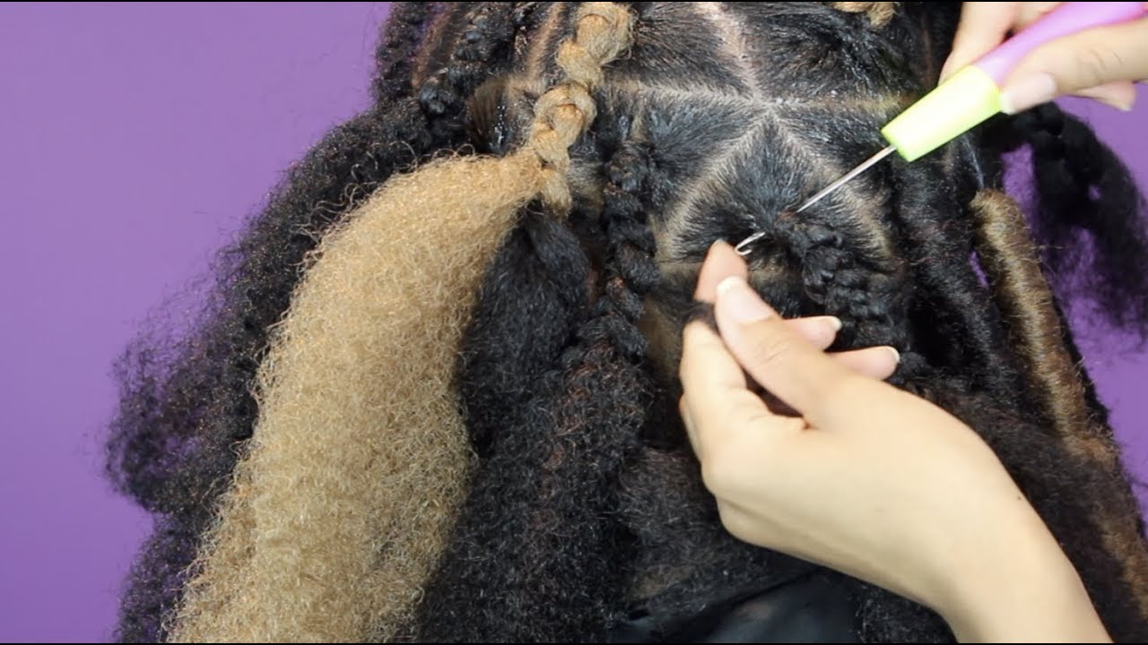 Easy Jumbo Faux Locs Tutorial Youtube