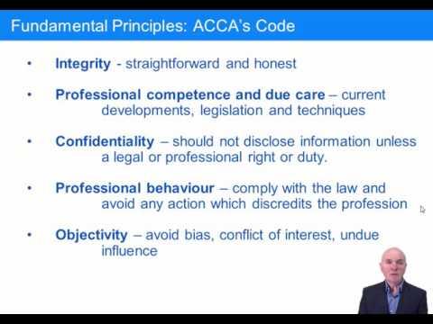 ACCA F8 Professional Ethics