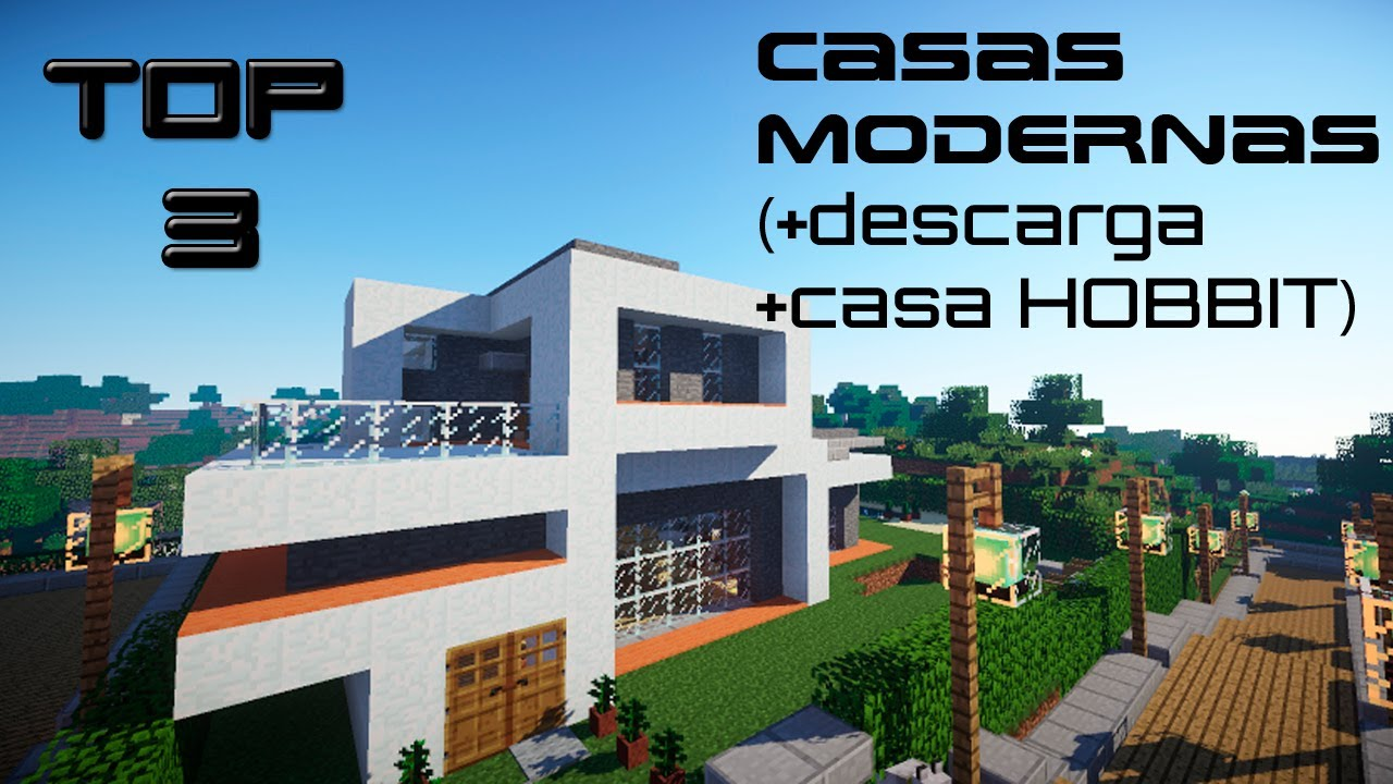 top 3 casas modernas minecraft youtube