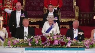 Staatsbesuch: Staatsbankett von Queen Elizabeth II. für US-Präsident Trump am 03.06.19