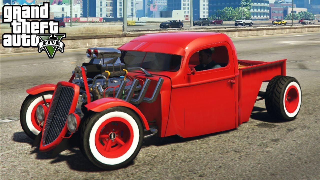 ☆ GTA 5 - AMAZING 1936 Ford Hot Rod Mod! Customization & Gameplay ...