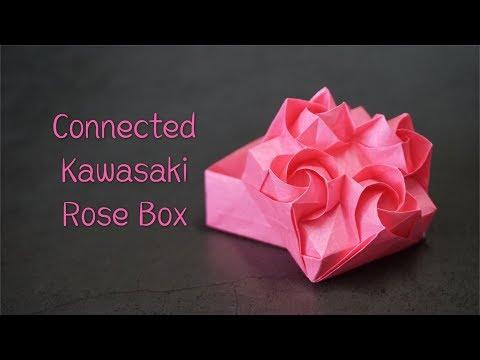 Origami Tutorial: Connected Kawasaki Rose (Du XiaoKang)