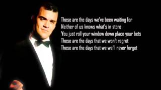 Avicii   The Days ft  Robbie Williams Lyrics
