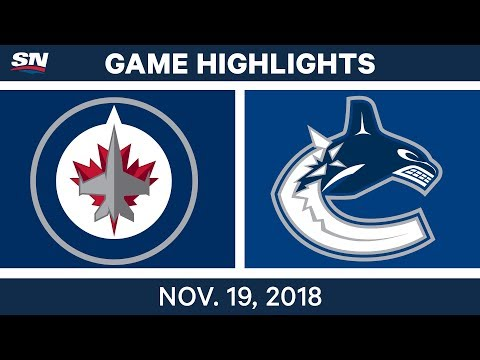 NHL Highlights | Jets vs. Canucks – Nov. 19, 2018