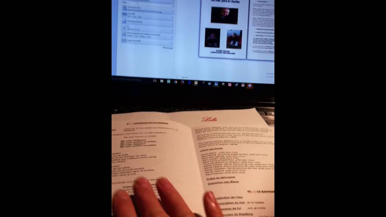 tutoriel pour la ralisation dun livret de baptme ou de mariage sous word - Livret De Messe Mariage Word