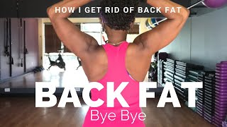 How to target  BACK FAT