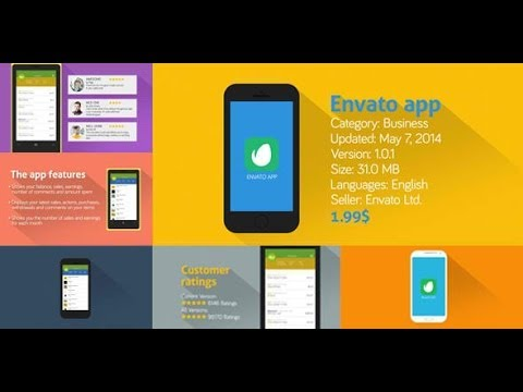 after effects template - simple app presentation - youtube, Powerpoint templates
