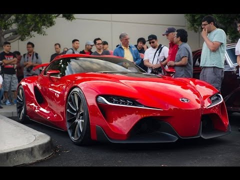 Toyota FT-1 Concept On the Road! -- DRIVING / INTERIOR & EXTERIOR!
