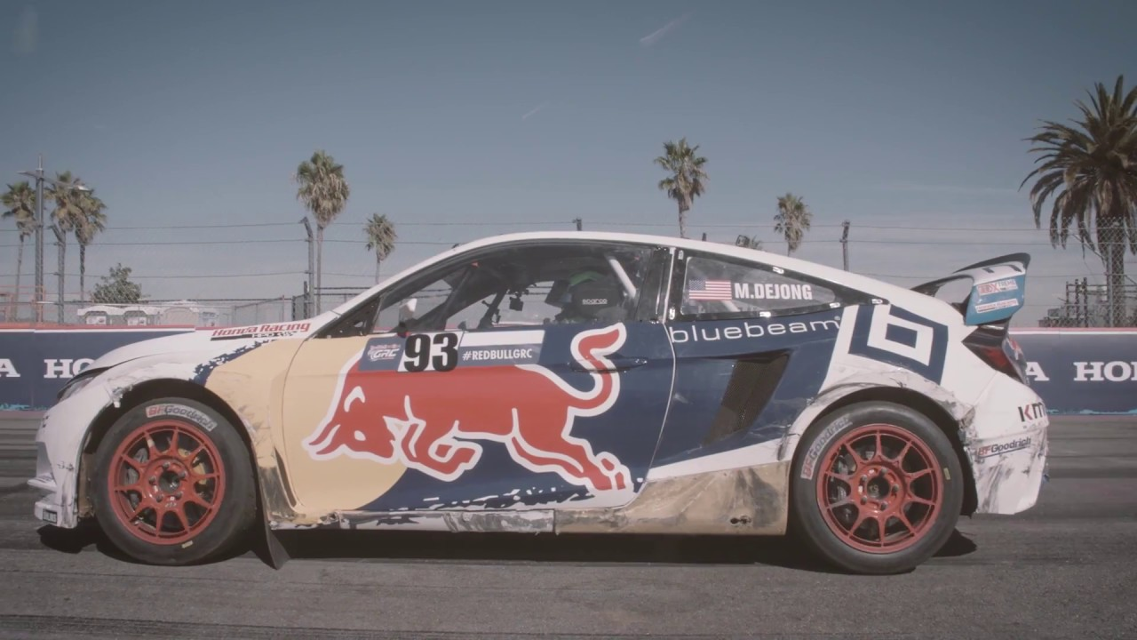 Grc Civic >> Conor Daly Drives The Red Bull Global Rallycross Honda Civic - YouTube