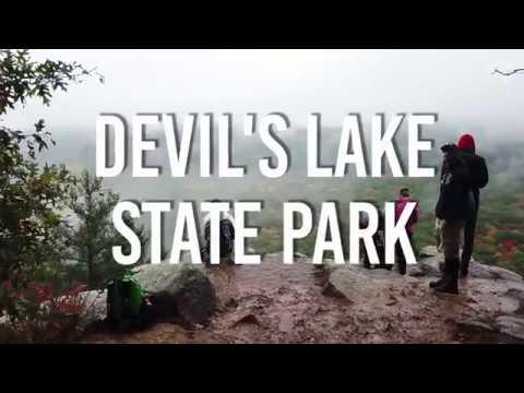 Devil's Lake State Park Wisconsin **4K Drone** (FOGGY DAY)
