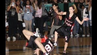 Alyson Stoner break dancing at Santiago High School