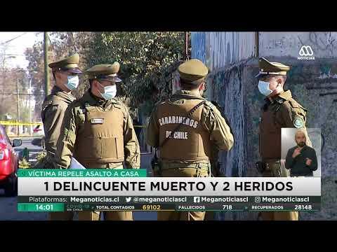 Chile | Dueño de casa se defiende de asalto matando a un delincuente y dejando a otros dos heridos