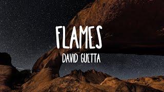 David Guetta, Sia - Flames (Lyrics) Video