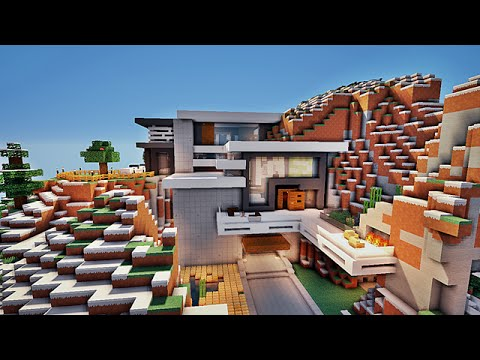 Minecraft maison moderne par noobcrafter101 youtube for Minecraft maison moderne xroach