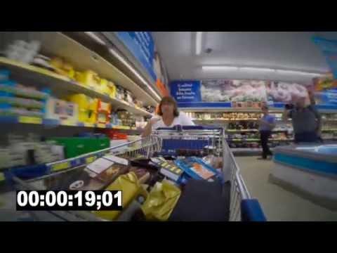 Lytter-Birgitte tømmer en Lidl butik på 2 minutter