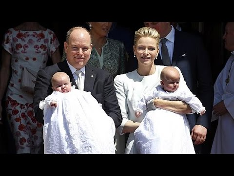 Royal twins are baptised in Monaco - no comment