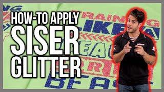 How to Heat Press Siser Glitter