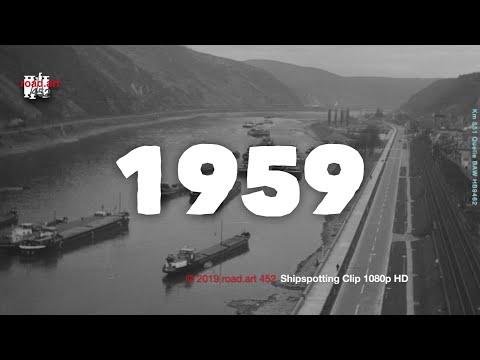 Der Rhein mit Niedrigwasser im Herbst 1959. Bilder aus den Kollektionen der BAW.
