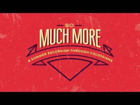 May 22, 2016 - So Much More - Dr David Uth
