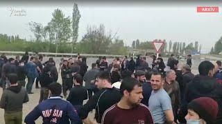 Gambar cover Azərbaycan sərhədində etiraz. Vətəndaşlar zorla postu keçməyə çalışıblar