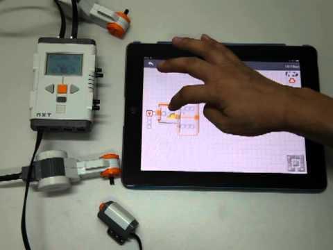 iNXTG, programming Lego Mindstorms NXT on iPad! - YouTube