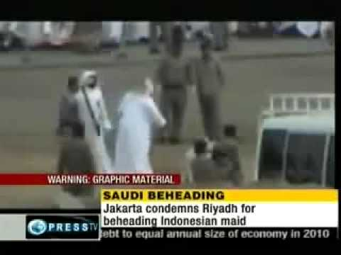 Beheading of an abused maid in saudi arabia.