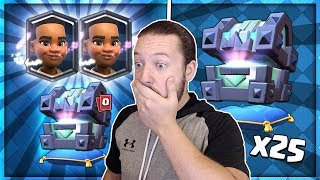 Clash Royale - Massive 60000 Gem Legendary Kings Chest x25 Opening ...