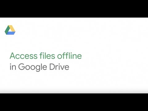 Access files offline in Google Drive