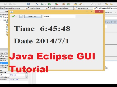 Java Eclipse GUI Tutorial 23 # Show System Date and Time in JFrame ( Dynamic Clock )