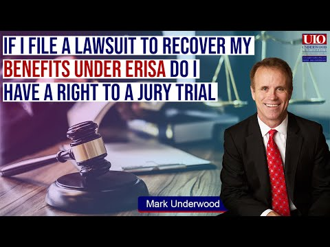 Can I get a jury trial for disability benefits under ERISA?