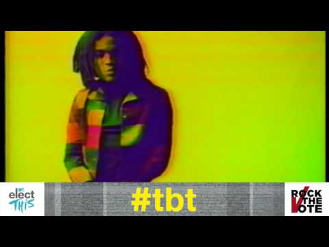 Lenny Kravitz for Rock the Vote (1990) || #RockTheVoteTBT
