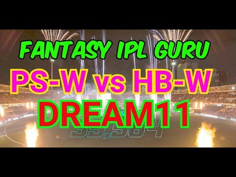 PSW VS HBW WBBL 47TH DREAM11 PLAYING11 MYTEAM11 Hobart hurricane vs perth scorcher MSW VS ssw