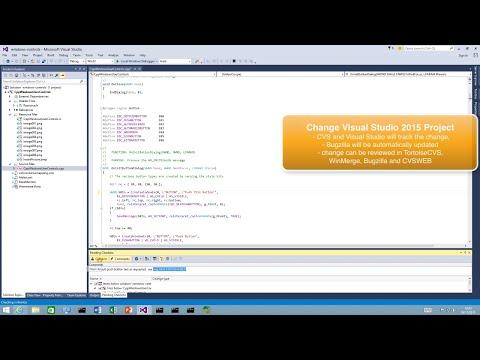 Visual Studio 2015 and CVS Suite (CVSNT)
