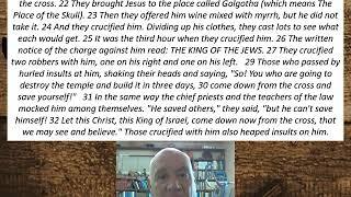 Lesson 108 Mark 15:21-32  November 9, 2020