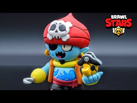 Making Pirate Gene - New Skin - Brawl Stars clay Art
