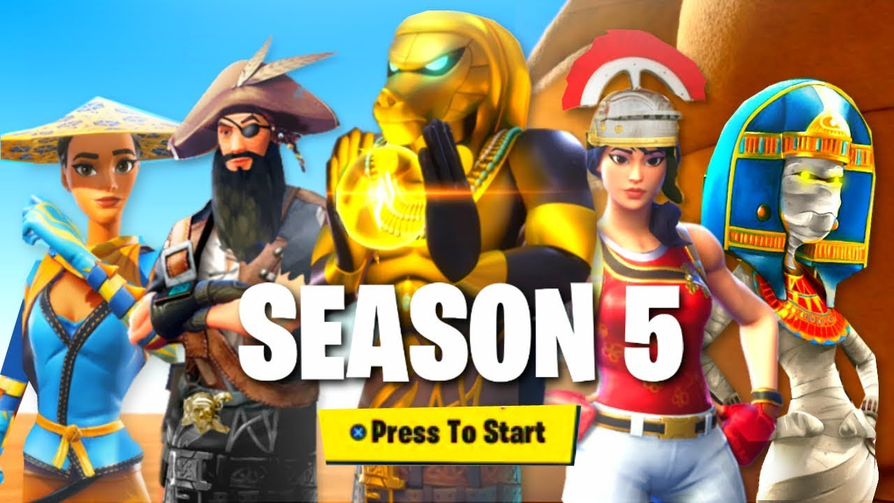 New Season 5 Official Battle Pass Theme Fortnite Battle Royale