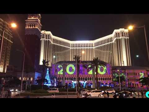 The Venetian Macau 2017- 2018 New Years Countdown.