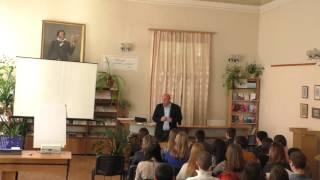 Выступление перед студентами в библиотеке Пушкина