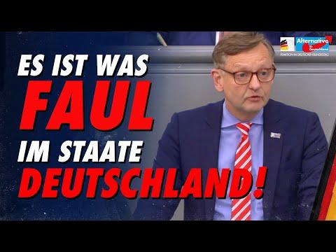 Gottschalk: Es ist was faul im Staate Deutschland! - AfD-Fraktion im Bundestag