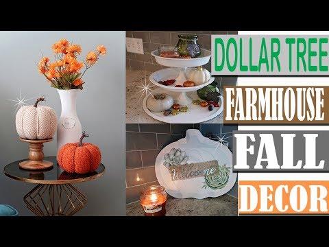 DOLLAR TREE FARMHOUSE FALL DECOR 2018 - DOLLAR TREE DIY