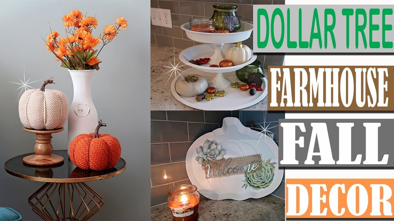 Diy Fall Home Decor Ideas 2018: DOLLAR TREE FARMHOUSE FALL DECOR 2018