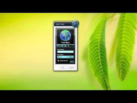 Feel the Earth with the Earth Clock by Windows 7 Desktop Widget