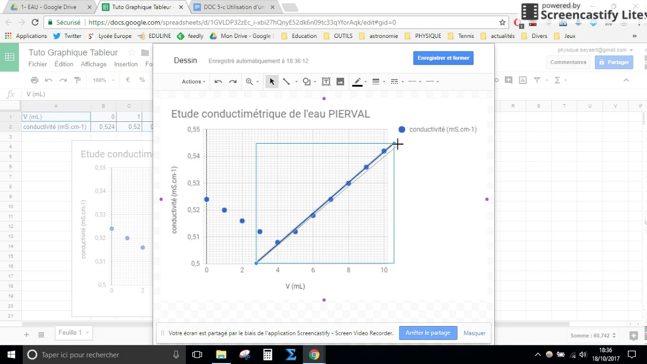 Tuto graphique tableur Google Sheets