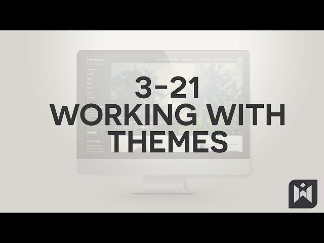 WordPress for Beginners 2015 Tutorial Series | Chapter 3-21: Working with Themes