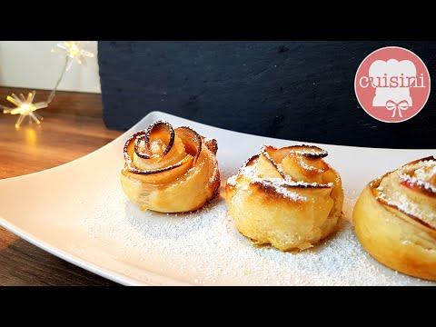 apfel bl tterteig rosen rezept apfelrosen muffins cupcakes aus 5 zutaten selber machen. Black Bedroom Furniture Sets. Home Design Ideas