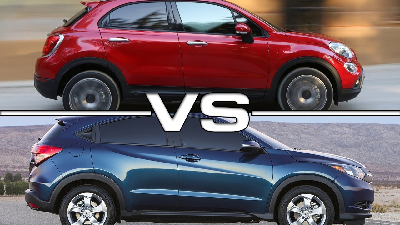2016 Fiat 500X vs 2016 Honda HR-V - YouTube
